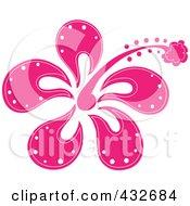 Pretty Pink Hibiscus Flower Logo