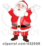 Royalty Free RF Clipart Illustration Of A Cheerful Reindeer Standing With His Arms Open by yayayoyo