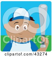 Clipart Illustration Of A Hispanic Boy Playing Baseball And Holding A Bat