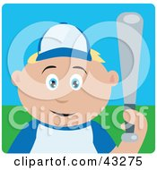 Clipart Illustration Of A Caucasian Boy Playing Baseball And Holding A Bat
