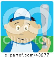 Clipart Illustration Of A Mexican Boy Playing Baseball And Holding A Bat