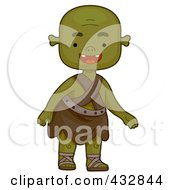 Royalty Free RF Clipart Illustration Of A Green Ogre