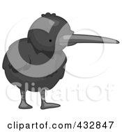 Royalty Free RF Clipart Illustration Of A Cute Baby Kiwi Bird
