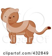 Royalty Free RF Clipart Illustration Of A Cute Baby Cougar
