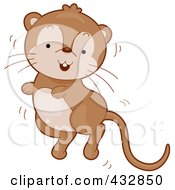 Royalty Free RF Clipart Illustration Of A Cute Jumping Gerbil by BNP Design Studio