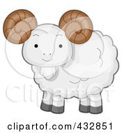 Royalty Free RF Clipart Illustration Of A Cute Baby Ram