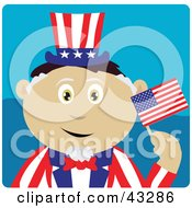 Clipart Illustration Of A Mexican Boy In An Uncle Sam Costume