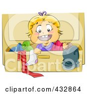 Royalty Free RF Clipart Illustration Of A Baby Boy In A Dresser Drawer