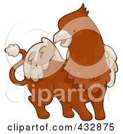 Royalty Free RF Clipart Illustration Of A Cute Brown Griffin