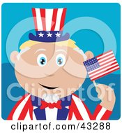 Clipart Illustration Of A Caucasian Boy In An Uncle Sam Costume