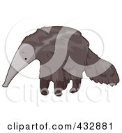 Royalty Free RF Clipart Illustration Of A Cute Anteater by BNP Design Studio