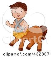 Royalty Free RF Clipart Illustration Of A Centaur Boy