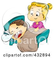 Royalty Free RF Clipart Illustration Of A Caring Mom Putting Her Child To Bed