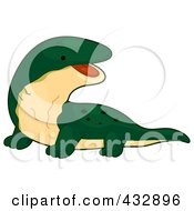 Royalty Free RF Clipart Illustration Of A Cute Baby Komodo Dragon by BNP Design Studio