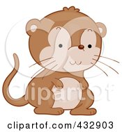 Royalty Free RF Clipart Illustration Of A Cute Baby Gerbil by BNP Design Studio