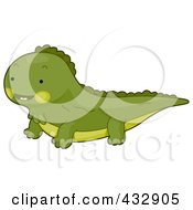 Royalty Free RF Clipart Illustration Of A Cute Baby Iguana by BNP Design Studio
