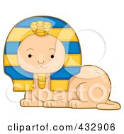 Royalty Free RF Clipart Illustration Of A Cute Egypytian Sphynx by BNP Design Studio