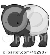 Royalty Free RF Clipart Illustration Of A Cute Baby Tapir