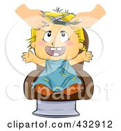 Royalty Free RF Clipart Illustration Of A Baby Getting Their First Hair Cut by BNP Design Studio