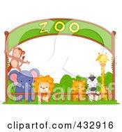 Zoo Animals Under A Banner