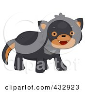 Royalty Free RF Clipart Illustration Of A Cute Baby Tazmanian Devil by BNP Design Studio
