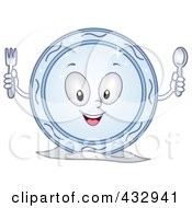 Royalty Free RF Clipart Illustration Of A Clean Plate Character by BNP Design Studio
