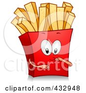 Royalty Free RF Clipart Illustration Of A French Fry Character Gesturing