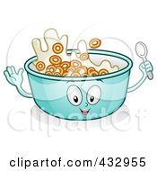 Bowl Of Cereal Character Gesturing