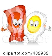 Bacon And Egg Characters Gesturing