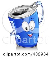 Royalty Free RF Clipart Illustration Of A Canned Beverage Character Gesturing