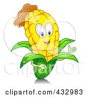 Royalty Free RF Clipart Illustration Of A Corn Character Gesturing by BNP Design Studio