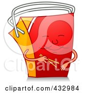 Royalty Free RF Clipart Illustration Of A Chinese Takeout Character