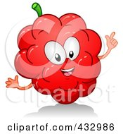 Royalty Free RF Clipart Illustration Of A Gesturing Raspberry Character by BNP Design Studio