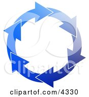 Blue Environmental Circle Of Arrows Clipart