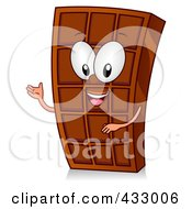 Royalty Free RF Clipart Illustration Of A Chocolate Bar Character Gesturing