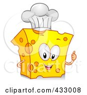 Royalty Free RF Clipart Illustration Of A Cheese Character Gesturing