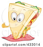 Royalty Free RF Clipart Illustration Of A Sandwich Character Gesturing