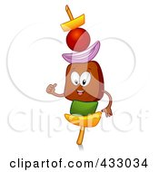 Royalty Free RF Clipart Illustration Of A Kebab Character Gesturing by BNP Design Studio