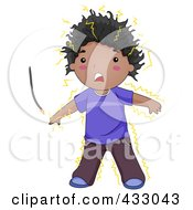 Royalty Free RF Clipart Illustration Of A Boy Being Electrocuted