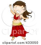 Royalty Free RF Clipart Illustration Of A Belly Dancer Girl by BNP Design Studio
