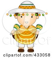 Royalty Free RF Clipart Illustration Of A Mexican Boy