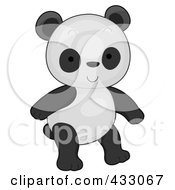 Royalty Free RF Clipart Illustration Of A Cute Baby Panda