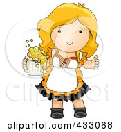 Royalty Free RF Clipart Illustration Of A German Oktoberfest Woman