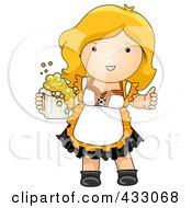 Royalty Free RF Clipart Illustration Of A German Oktoberfest Woman by BNP Design Studio