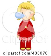 Royalty Free RF Clipart Illustration Of A Sick Girl With Snot