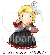 Royalty Free RF Clipart Illustration Of A Victorian Girl