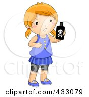 Royalty Free RF Clipart Illustration Of A Girl Holding A Bottle Of Poison