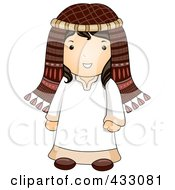 Royalty Free RF Clipart Illustration Of An Israeli Man