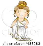 Royalty Free RF Clipart Illustration Of A Greek Girl