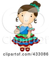 Royalty Free RF Clipart Illustration Of An Argentinian Woman